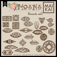 Moana clipart Moana symbol Maui Tattoo Moana Invitation