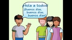 Hola a todos: A Spanish Greeting Song - Calico Spanish Songs for Kids Basic Spanish Words, Spanish Lessons For Kids, Learning Spanish For Kids, Spanish Teaching Resources, Spanish Lesson Plans, Spanish Songs, Learn Spanish, Spanish Grammar, Spanish 1