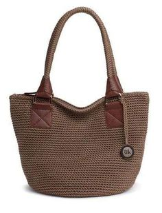 Cambria Medium Round Tote Solids - crochet bag - the sak Crochet Handbags, Crochet Purses, Knit Or Crochet, Crochet Bags, Sweet Bags, Diy Tote Bag, Jute Bags, Knitting Accessories, Knitted Bags