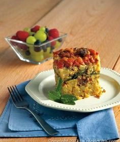 For a hearty breakfast try Slow Cooker Breakfast Casserole. This protein-packed dish is easy to make and can also be used as filling for breakfast burritos.