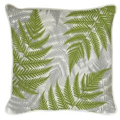 This all over fern design will add a touch of natural wonder to your living room.