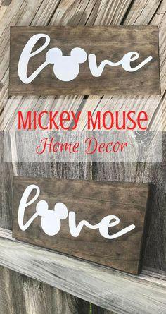 Mickey Mouse Home Decor Sign #Disney #MickeyMouse #HomeDecor #WallArt #DisneyDecor #Ad