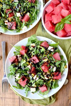 Watermelon, Feta, Basil, and Pistachio Salad | 7 Quick Dinners To Make This Week