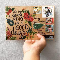 Envelope Decoration Ideas Luxury ✌🏼yea Goodvibes Weekendvibes Happymail Write Mail Art Envelopes, Brown Envelopes, Addressing Envelopes, Art Postal, Pen Pal Letters, Envelope Art, Calligraphy Envelope, Snail Mail, Kirigami