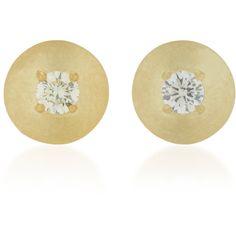 ILA Celina 14K Gold And Diamond Stud Earrings (30.435 RUB) ❤ liked on Polyvore featuring jewelry, earrings, gold, 14k gold earrings, gold diamond earrings, stud earrings, yellow gold diamond earrings and yellow gold earrings