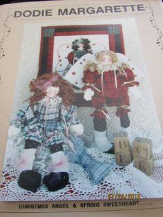 "Fiber Mosaics Leslie Beck Christmas Angel Rag Doll pattern 18"" Pattern Sewing #FiberMosaics"