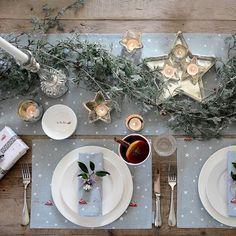 Star Tea Light Holder - Standard from Sophie Allport Christmas Table Settings, Christmas Tablescapes, Christmas Decorations, Table Decorations, Holiday Decor, Happy Christmas Day, Christmas Time, White Christmas, Xmas