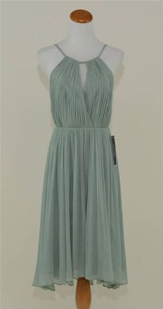 3e6bd71ee9a New j. crew  275 silk chiffon selena dress 2 dusty shale green