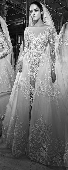 Zuhair Murad;AW17-18 Bridal ☆Black & White Lookbook, Photo of Gown Design