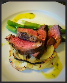 grilled Sirloin Steak with Herbs, AOSF V I p. 155, with Bearnaise