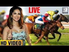 Sunny Leone attended the Atilla Million Race at the Mahalaxmi Race Course. Watch the video now LIVE