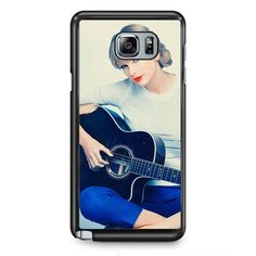 Taylor Swift Playing Guitar Wallpaper 1280x1024 TATUM-10548 Samsung Phonecase Cover Samsung Galaxy Note 2 Note 3 Note 4 Note 5 Note Edge