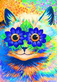 Psychedelic Kitty #animals #animalpictures #animal
