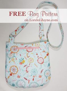 Charli Bag sewing pattern. This is the cutest crossbody bag sewing pattern! it's also A free sewing pattern! AWESOME