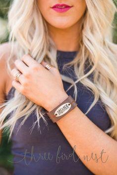 Dreamer Inspirational Leather Bracelet