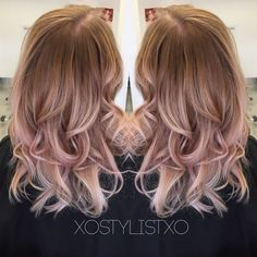Image result for rose gold ombre hair