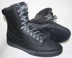 Fashion Designer Nike Air Royalty Highness Hi-tops In Black Size 4UK 37,5 EU