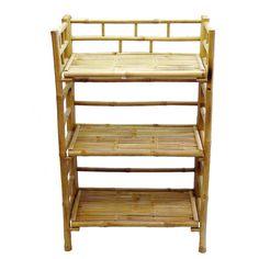 Bamboo Folding Shelf (Vietnam) - Overstock™ Shopping - Top Rated Media/Bookshelves