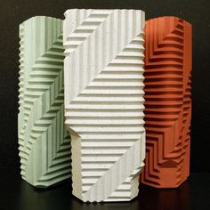 Herringbone vase by Phil Cuttance is one of 12 perfect presents chosen by Dezeen for interior design lovers.