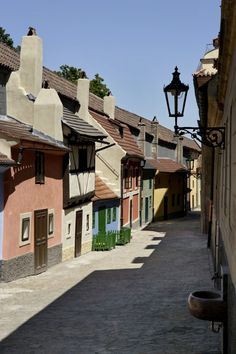 Golden Lane with Daliborka Tower - Prague Castle