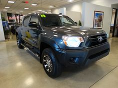 2014 Toyota Tacoma Double Cab PreRunner Pickup Vin Number: 3TMJU4GN9EM164305 Stock Number: 441776 Price: $29,999 Used Truck 2014 Toyota Tacoma Double Cab PreRunner Pickup for sale, Color Gray, Certified, Transmission Automatic, LT Truck, Miles 6833, series PreRunner, Model Tacoma, Make Toyota, Year 2014, Traction control, AM/FM Stereo, Stability Control, MP3 Single Disc, ABS 4 Wheel, Bluetooth Wireless, Keyless Entry, Dual Air Bags, Air Conditioning, Side Air Bags, Sliding Rear
