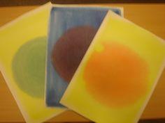 Kleuren mengen op papier: van primaire naar secundaire kleuren.