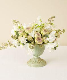 sweet peas in this arrangement