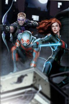 Hawkeye, Ant-Man and Black Widow