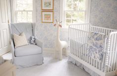 Sweet and traditional baby nursery (can be gender neutral! Since I am such a f… Sweet and traditional baby nursery (can be gender neutral! Since I am such a fan of blue and white – YES! Blue Nursery Girl, White Nursery, Nursery Neutral, Nursery Room, Nursery Ideas, Nursery Decor, Nursery Inspiration, Pink And Green Nursery, Neutral Nurseries