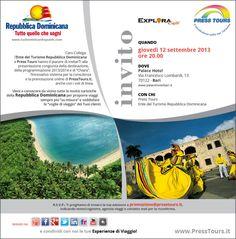 Nuova serata Press Tours in collaborazione con la Repubblica DOMINICANA a BARI