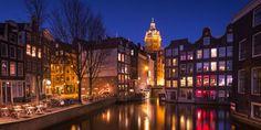 Bairro da Luz Vermelha, Amsterdan, Holanda.