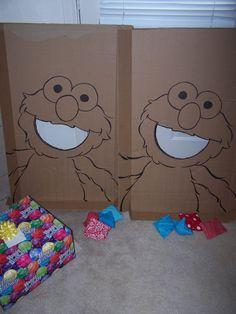 Elmo Party - bean bag toss