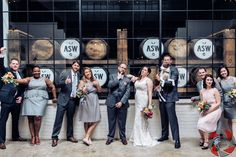 The Stave Room at American Spirit Works Wedding | Bridal Party | Wedding Photography | TJR Photography