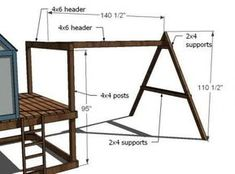 I want to make this! DIY Furniture Plan from Ana-White.com A swing set add on that extends from our playhouse! This swing set can also be used freestanding, without a playhouse. #PlayhousePlans