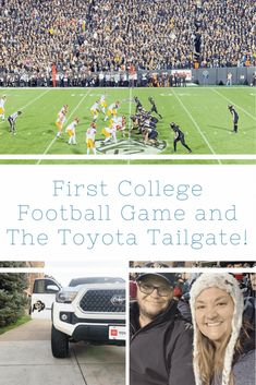 As a college graduate from a big university, I never attended any athletics. Check out my experience at my first college football game & the Toyota Tailgate Colorado Places To Visit, Rockies Game, High School Cheerleading, Intense Games, College Football Games, University Of Colorado, International Football, Football Field, Pin Pin