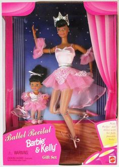 Ballet Recital Barbie and Kelly Giftset - African American New Barbie Dolls, Barbie Dream, Mattel Barbie, Barbie Clothes, Barbie Kelly, Barbie And Ken, Barbie Values, Ballerina Barbie, Kelly Fashion