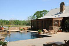 Boydstun Barn - farmhouse - pool - new orleans - Al Jones Architect
