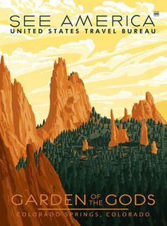 Colorado Garden of the Gods National Park Poster