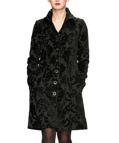 Take a look at this Black Fleur-de-Lis Jacket by Desigual on #zulily today!