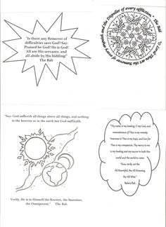 Coloring page drawings im making for my bahai sunday school class 4 bahai prayers in shapes we let the children colour these in fandeluxe Choice Image