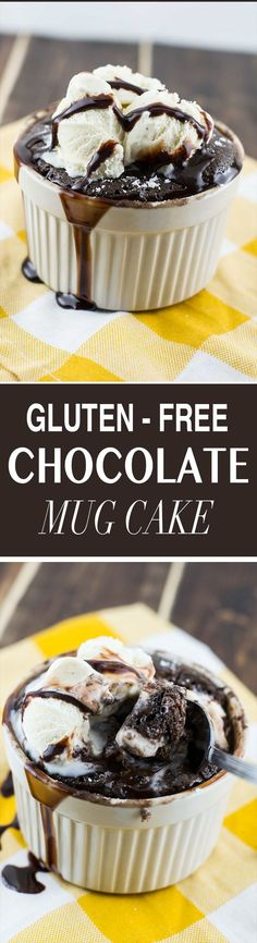 This healthy recipe for gluten free chocolate mug cake is super rich and fluffy and low in sugar! Made using a special blend of oat and coconut flour.