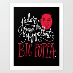 Buy French Poppa Art Print by chrispiascik. Worldwide shipping available at Society6.com. Just one of millions of high quality products available.