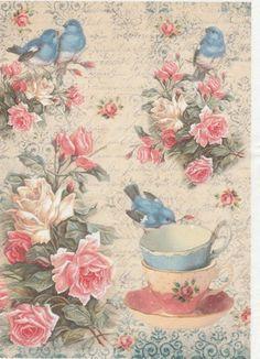 Decoupage Vintage, Vintage Diy, Vintage Ephemera, Vintage Cards, Vintage Paper, Vintage Images, Decoupage Printables, Printable Scrapbook Paper, Rice Paper Decoupage