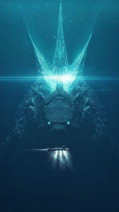 Godzilla vs Submarine iPhone Wallpaper - iPhone Wallpapers