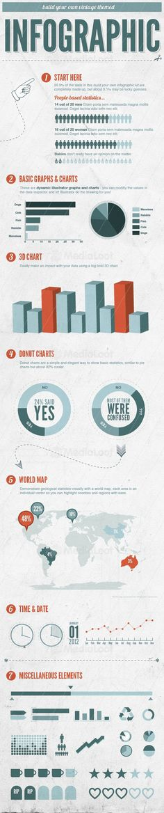 Vector infographic charts & maps