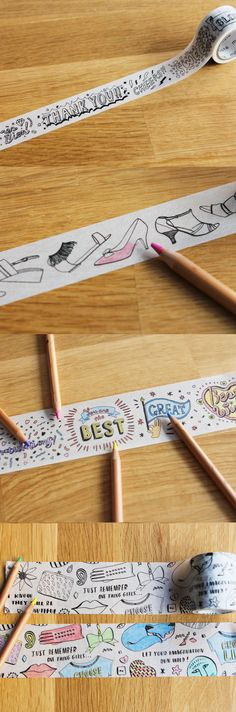 Show off your DIY ability by coloring the tape in your own way and utilize the tape for any purpose!