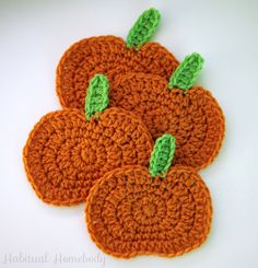 Free Pumpkin Coaster Pattern