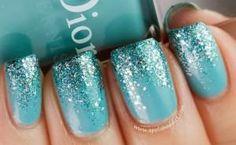 unhas com glitter 6
