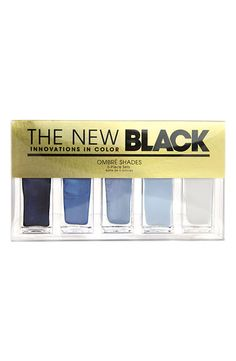 'Horizons - Ombré Nail Shades' 5-Piece Set, The New Black