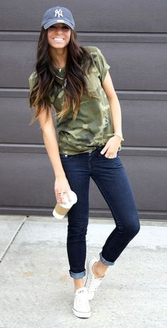 Love the camo top